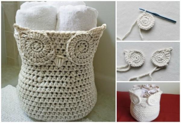 How To Diy Crochet Owl Basket Diy Smartly