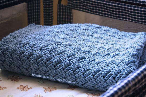 Easy Wonderful Basket Weave Crochet Pattern - Baby ...