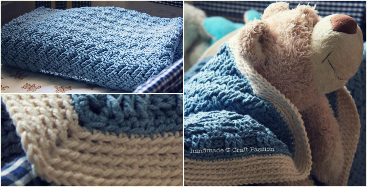 Easy Wonderful Basket Weave Crochet Pattern Baby