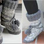 Crochet Ankle Boots Free Pattern : Crochet Eskimo Boots - Free Pattern & Video Tutorial Diy ...