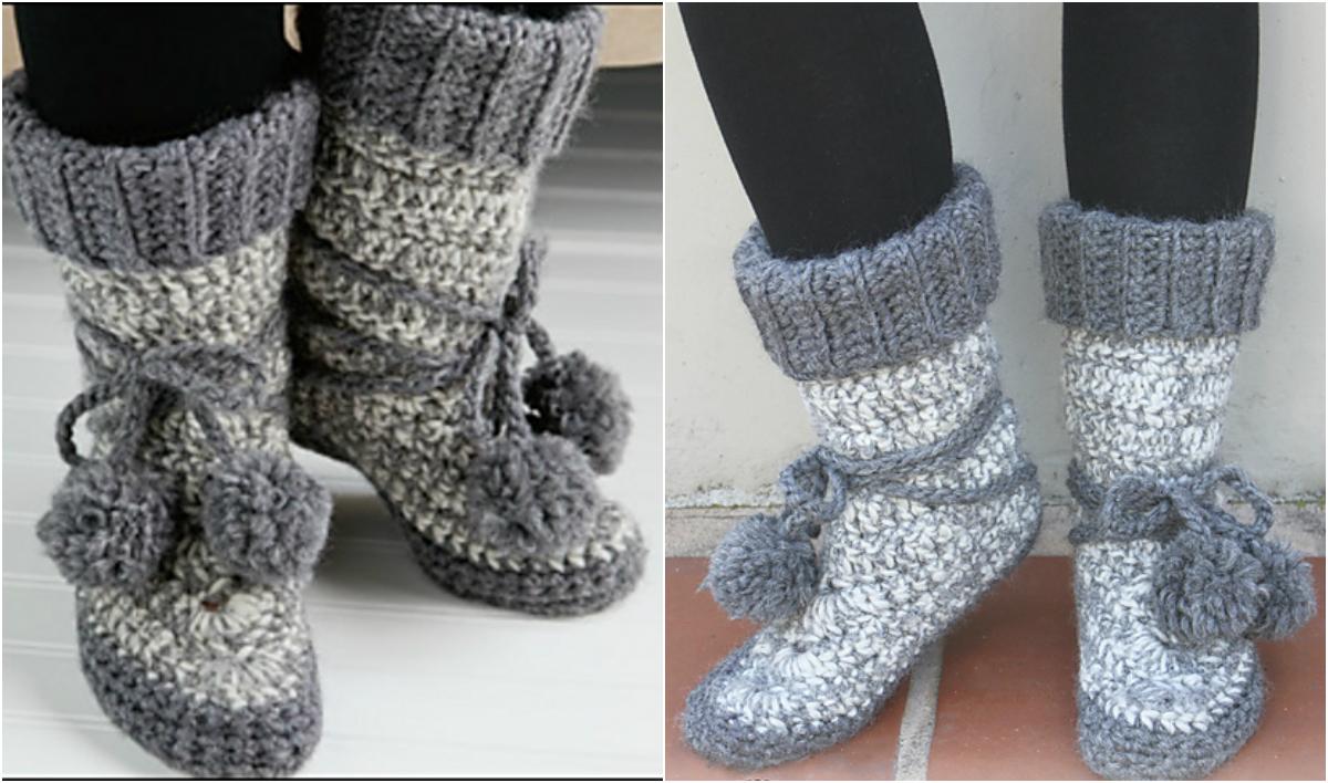 Crochet Eskimo Boots – Free Pattern Video Tutorial