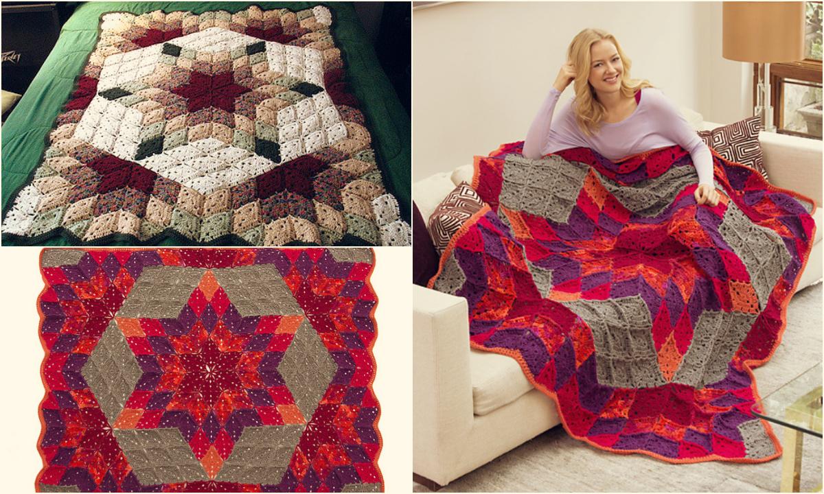 Free Pattern Easy Crochet Desert Star Blanket Diy Smartly