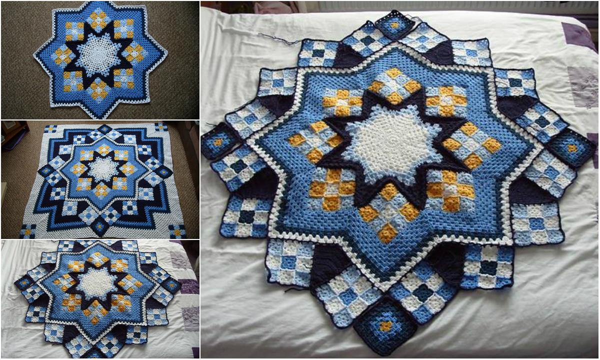 Free Pattern Adorable Patchwork Crochet Blanket Diy