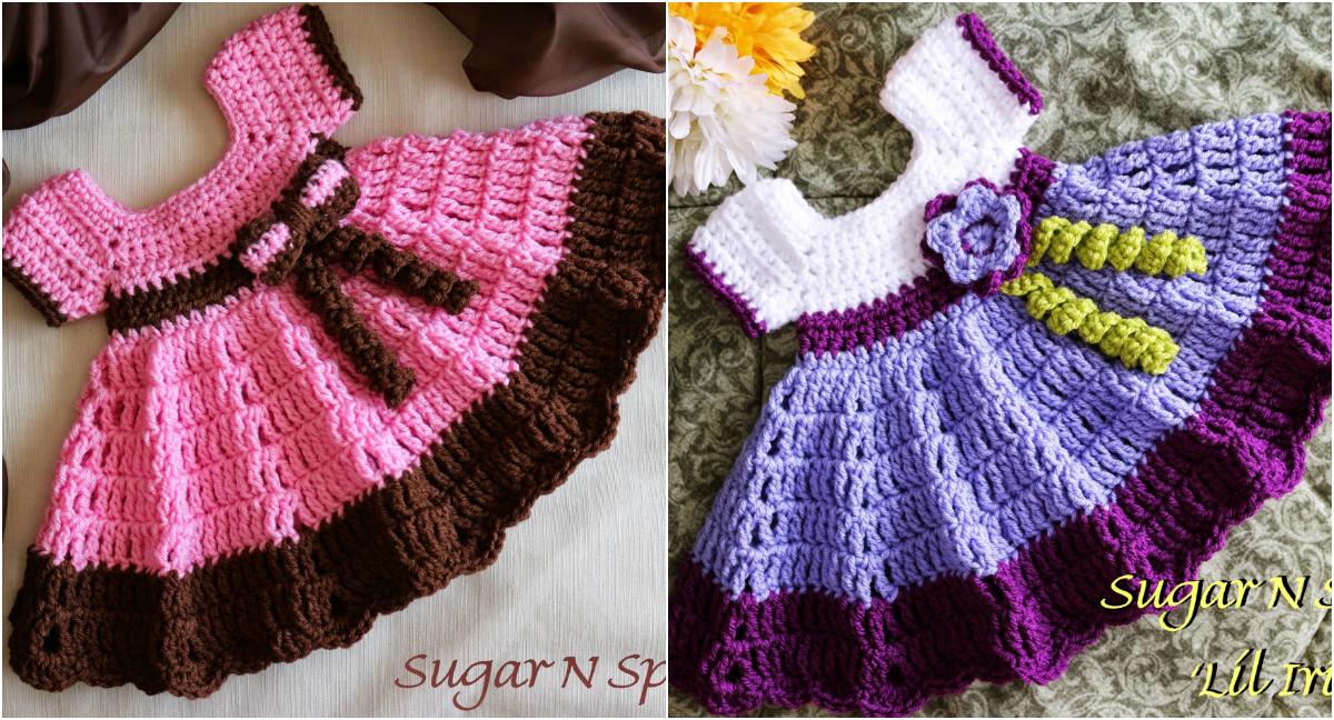 Crochet Baby Dress - Free Pattern & Video Tutorial Diy ...