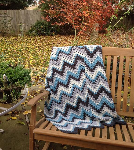 Free Pattern Crochet Granny Ripple Afghan Diy Smartly