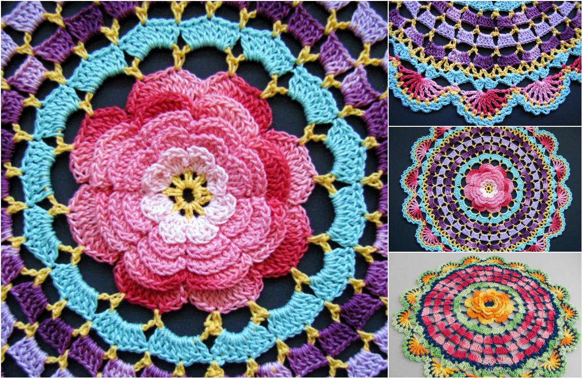 Easy Beautiful Crochet Rose Free Pattern Diy Smartly