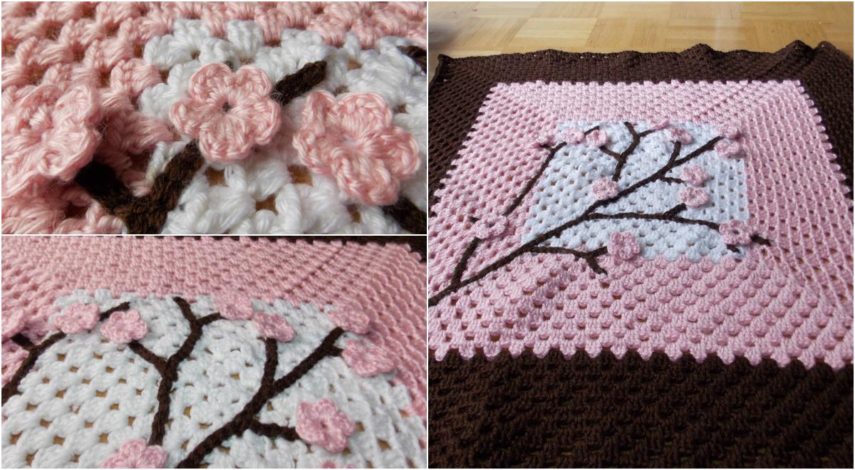 Stunning Cherry Blossom Baby Blanket Pattern Diy