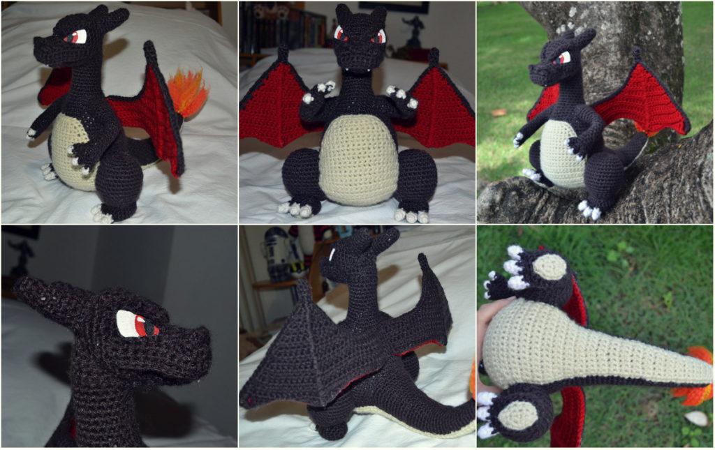 Funny Charizards Snout Free Amigurumi Crochet Pattern Video