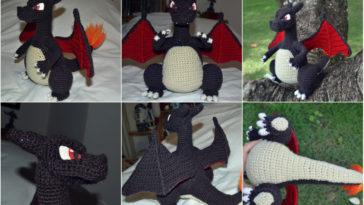 Amigurumi Charizard Free Pattern   Crochet dragon pattern, Pokemon crochet  pattern, Crochet dinosaur patterns   205x364