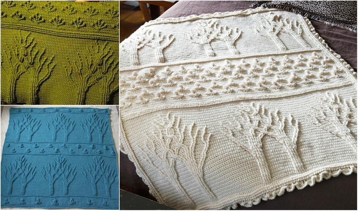 Easy Stunning Tree Of Life Afghan Free Pattern Diy