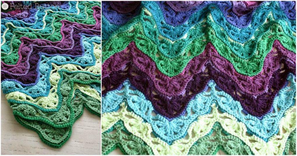Free Crochet Pattern Brighton 3D Baby Blanket Diy Smartly