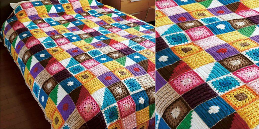 Easy Free Pattern Kukka Bedspread Crochet Blanket Diy Smartly