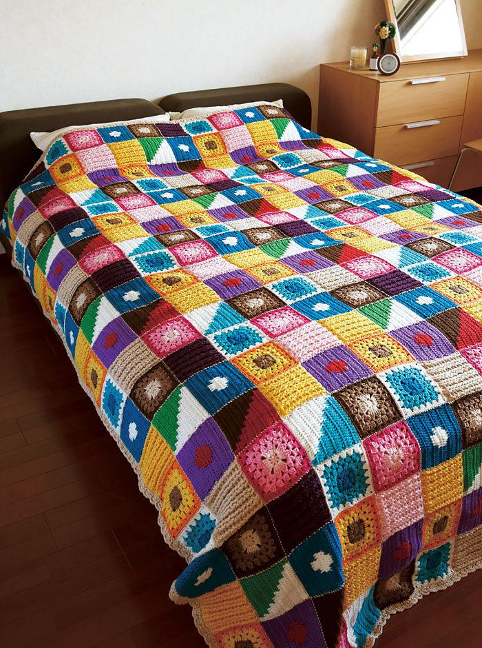Крючком вязание одеяло
