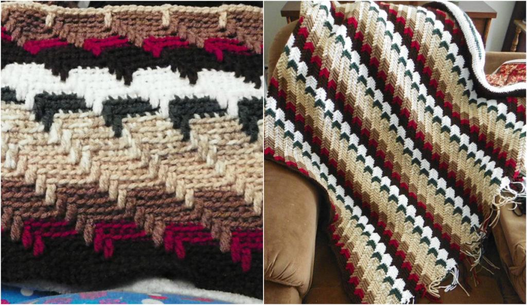 Free Crochet Pattern For Teardrop Afghan : [Free pattern] Apache Tears Crochet Afghan + Video ...