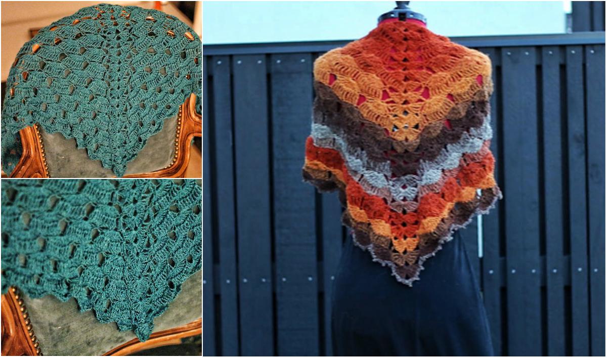 Free Pattern Slow Waves Crochet Shawl Diy Smartly