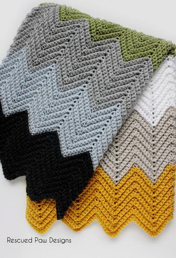Chevron Crochet Blanket Free Pattern Diy Smartly