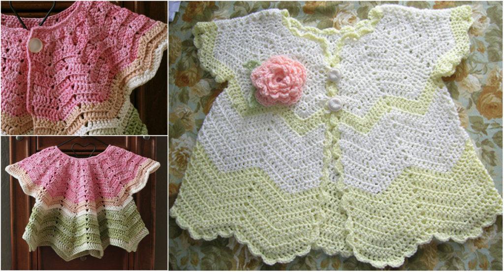 Stunning Crochet Baby Set Free Pattern Diy Smartly
