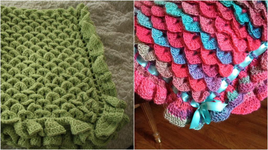 Crocodile Stitch Baby Blanket Pdf Pattern Diy Smartly