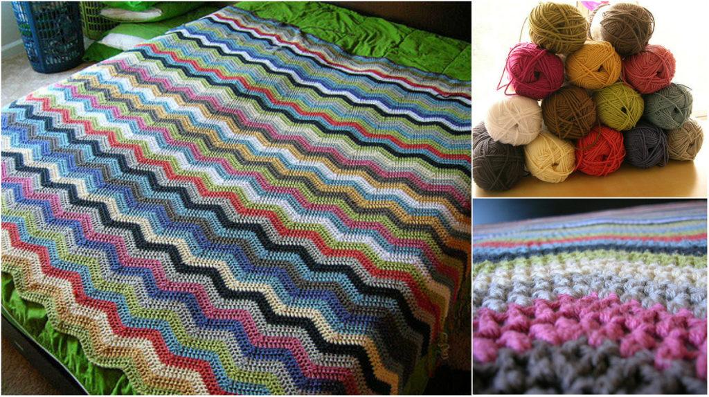 Easy Ripple Crochet Afghan Free Pattern Diy Smartly