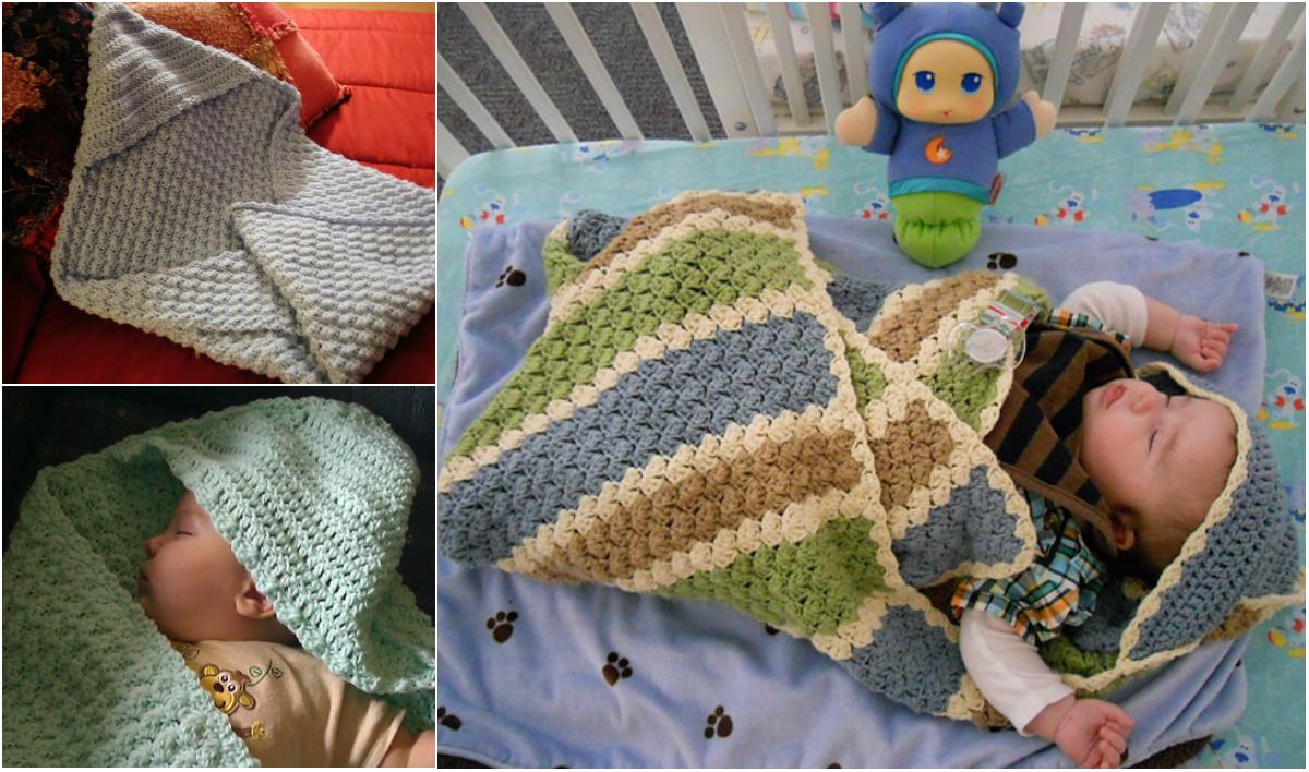 Hooded Crochet Baby Blanket Diy Smartly