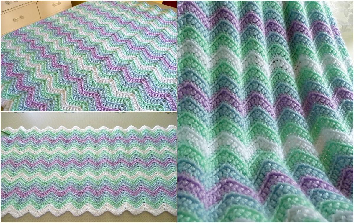 Crochet Rickrack Rainbow Baby Blanket Free Pdf Pattern