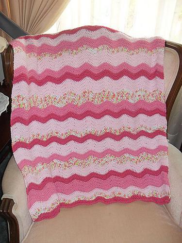 Free Pattern Neopolitan Ripple Crochet Baby Blanket Diy Smartly