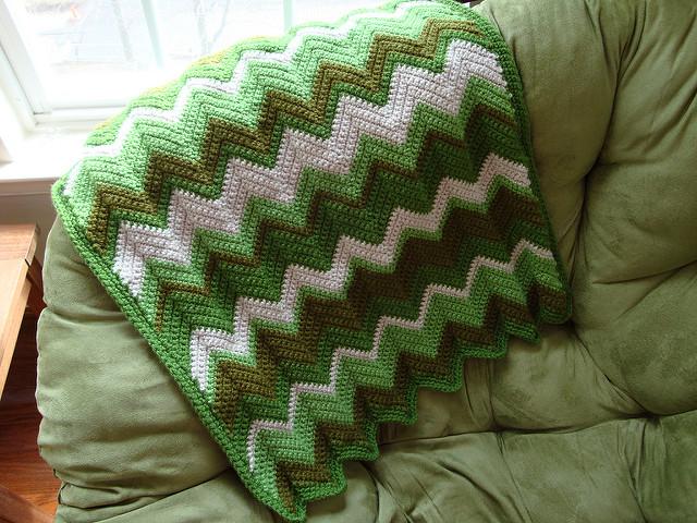 Free Pattern Shades Of Irish Green Baby Blanket Diy Smartly