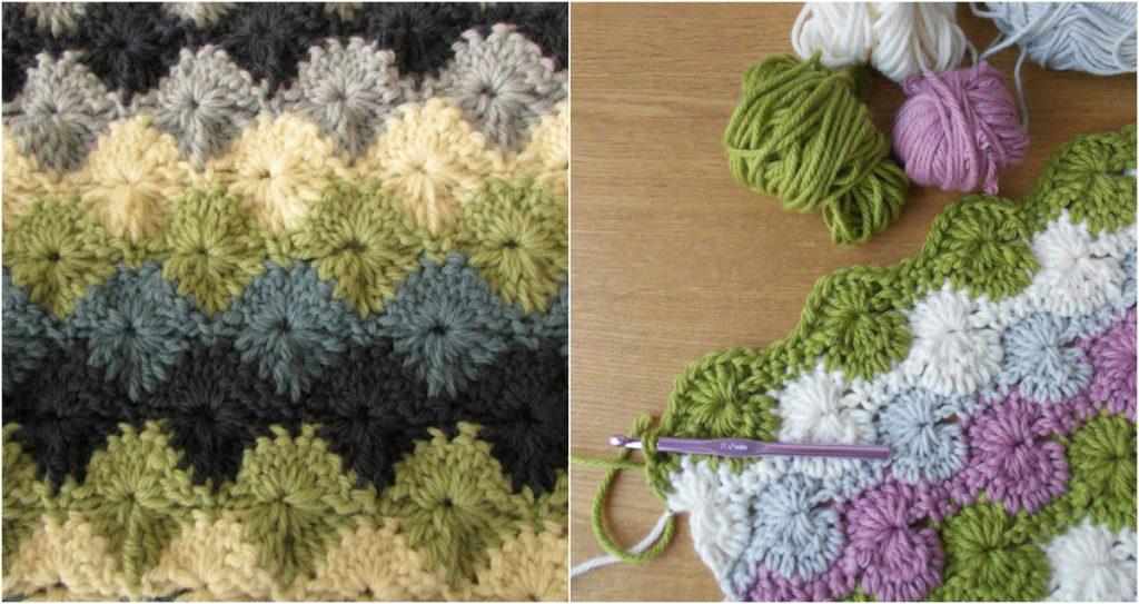 Easy Starburst Stitch Blanket Video Tutorial Diy Smartly