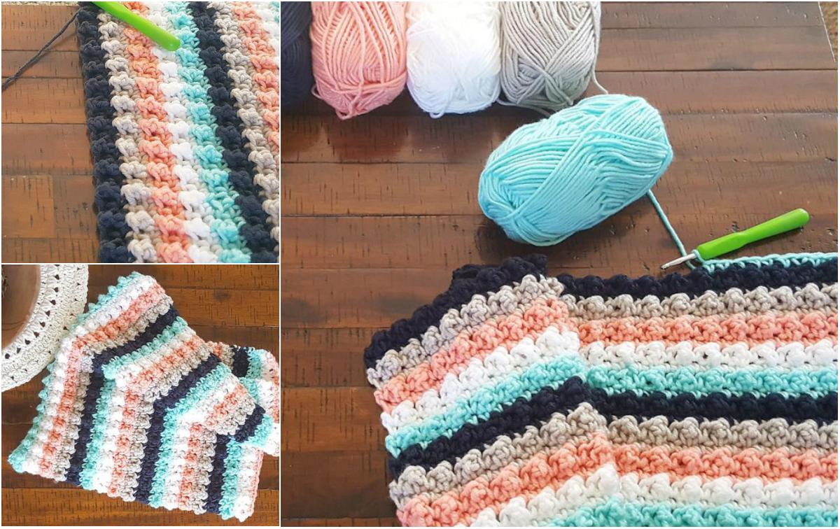 [Easy] Ever So Striped Crochet Baby Blanket Diy Smartly