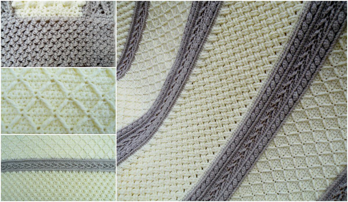 crochet aran throw pattern stitches advertisement