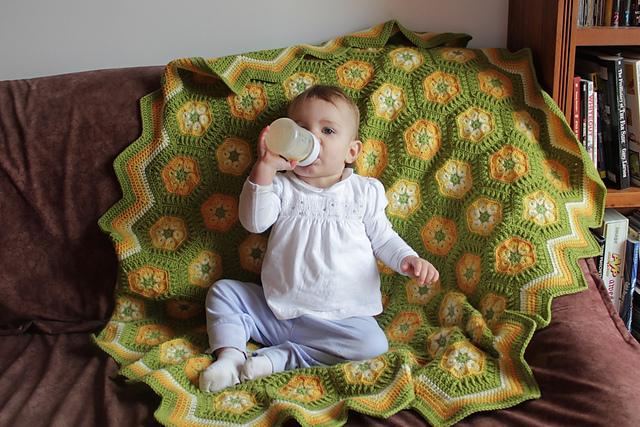 Free Crochet Patterns In South Africa : Crochet Hexagon African Flower Blanket - Free Pattern ...