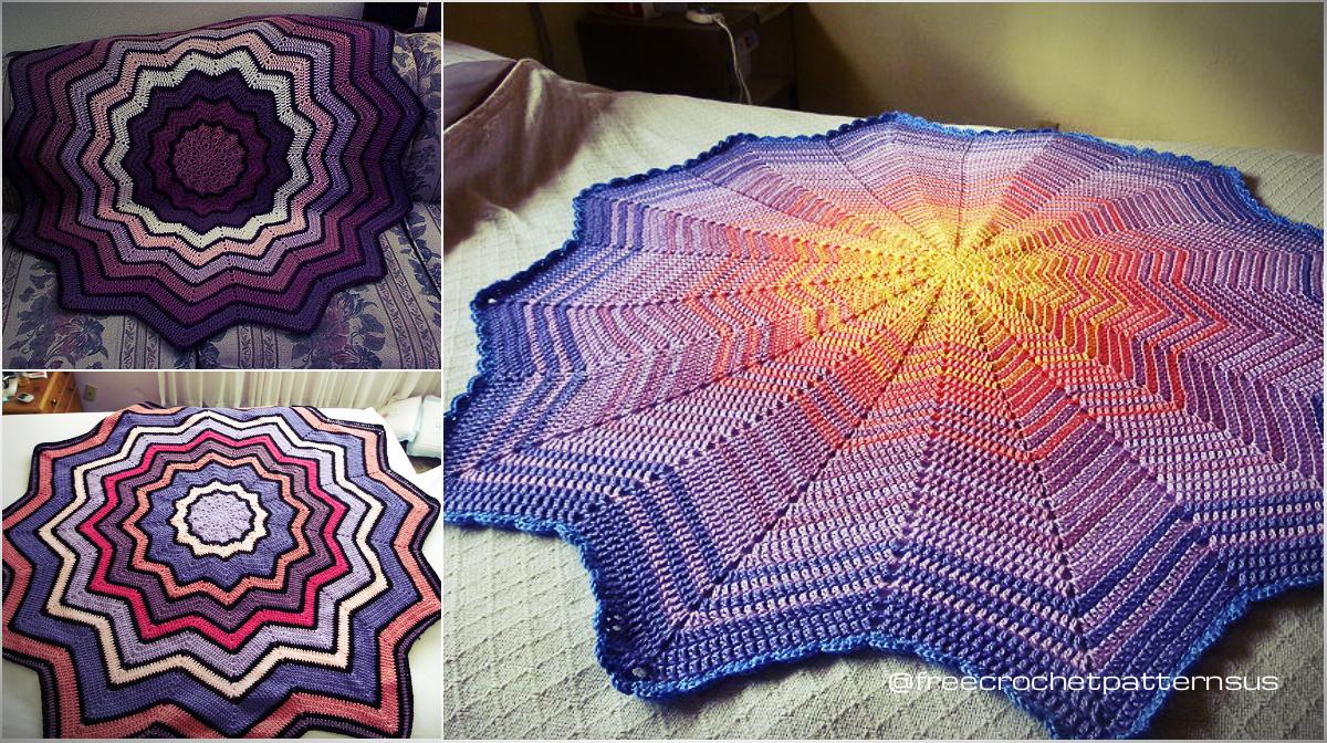 Free Pattern] Lyn\'s Round Ripple Baby Afghan | Diy Smartly