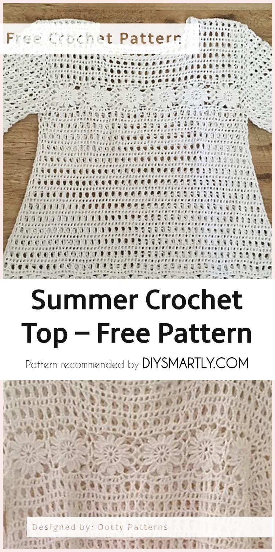 Summer Crochet Top - Free Pattern + Video Tutorial | Diy Smartly