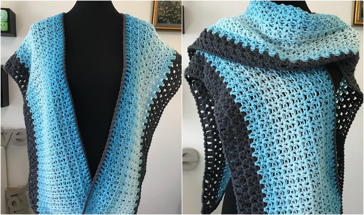 The Caribbean Ruana - Free Crochet Pattern   Diy Smartly