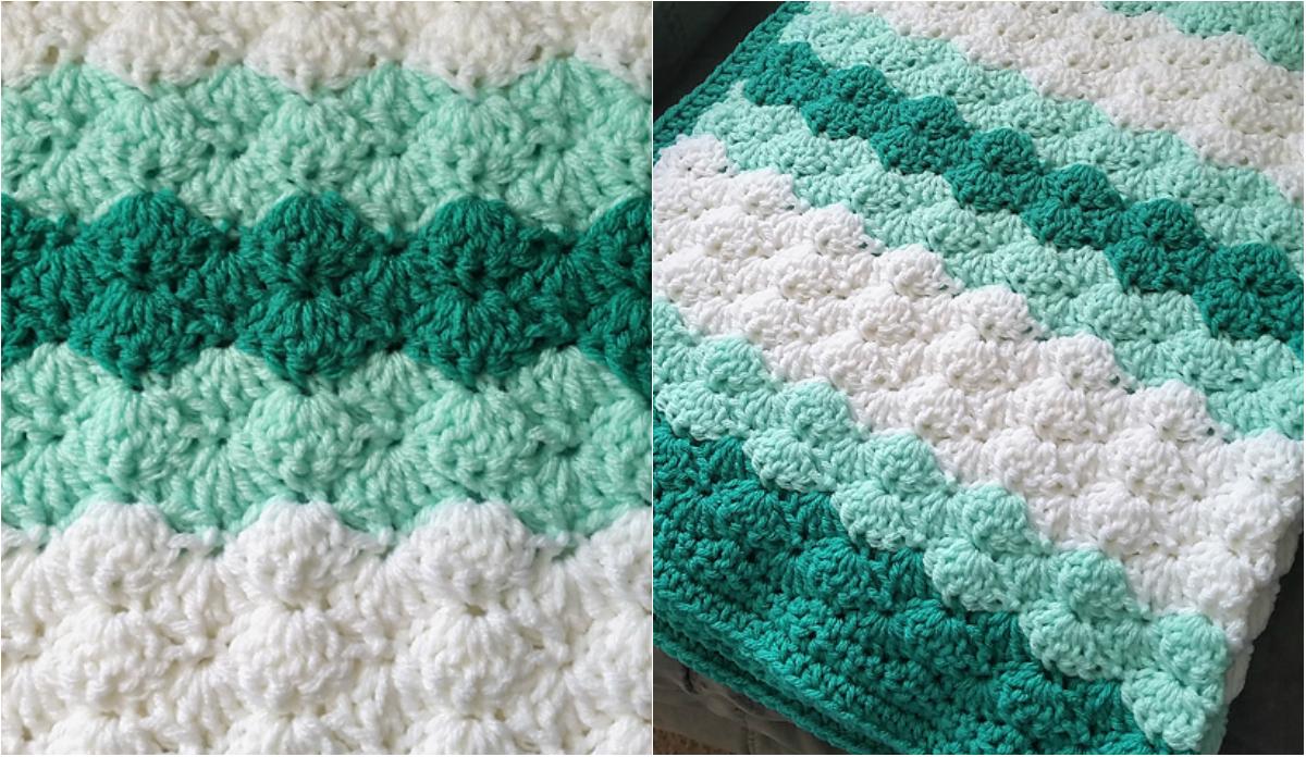 Free pattern] Shells Stitch Baby Blanket   Diy Smartly