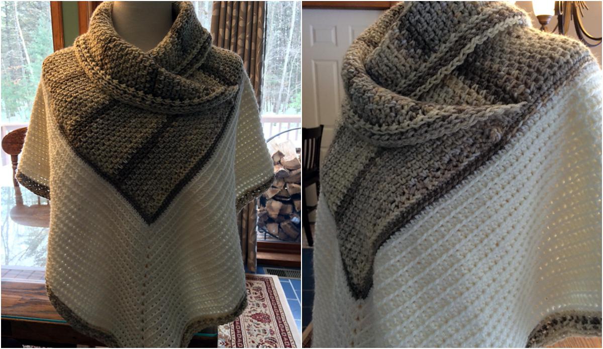 Free Pattern] White Russian Crochet Poncho   Diy Smartly