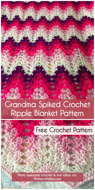 Grandma Spiked My Ripple Blanket - Free Crochet Pattern | Diy Smartly